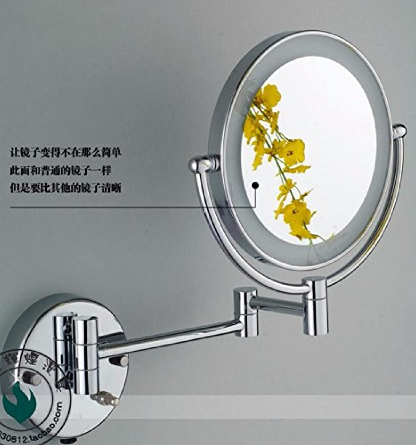Copper bathroom mirror double-sided slim magnifying glass bathroom beauty illuminated mirrors shaving mirrors wall mount makeup mirror 8-inch