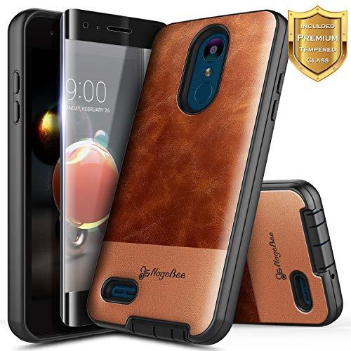 LG Rebel 4 LTE Case, Aristo 3+ Plus/Aristo 3/Aristo 2/Aristo 2 Plus/Tribute Dynasty/Empire/Zone 4/Phoenix 4/Fortune 2/Risio 3/Rebel 3/K8+/K8S w/Screen Protector, NageBee Premium Leather Case -Brown