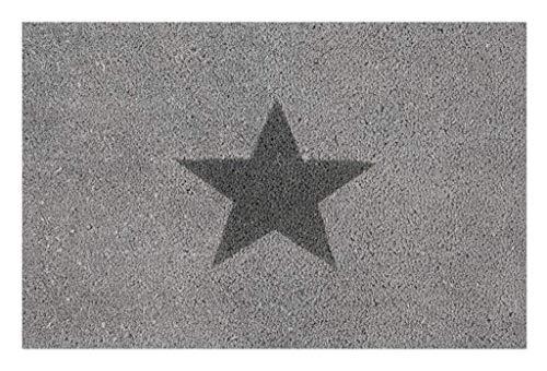 andiamo Fußmatte, Stern grau, 40 x 60 cm