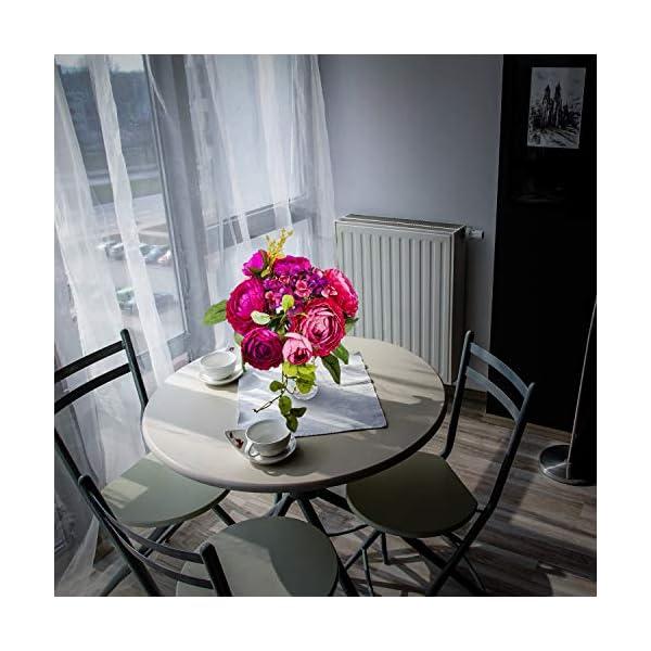 Love Bloom Ranunculos Artificiales Rosados – Flor Decoracion con Florero – Asiaticus Flor Artificial Seda para…