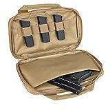 LIVANS Tactical Pistol Gun Case, Padded Handgun Case Double Pistol Wallet Handgun Pistol Soft Case Rectangle Handgun Pouch