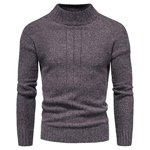 Generice Suéteres para hombre, chaquetas de punto para hombre, otoño nuevo comercio exterior, camisas de cuello medio alto