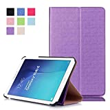 Samsung Galaxy Tab E 9.6 Case Leather,Samsung T561 Protective Cover,Samsung Tablet Cover,Samsung 9.6 inch Tablet Case,Slim Flip Cover for Samsung Galaxy Tab E 9.6 inch Tablet Case-Purple