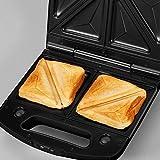 SEVERIN Sandwich-Toaster, 3-in-1 Funktion (Sandwich-, Grill-, Waffelplatte), 1.000 W, SA 2968, EDS-geb./ schwarz