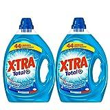 XTRA Total - Lessive Liquide Universelle - Blanc et Couleur - 88 lavages (Lot de 2 x 2.2L)