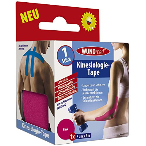 Wundmed Kinésiologie Tape Rose 5 m x 5 cm, Lot de 3