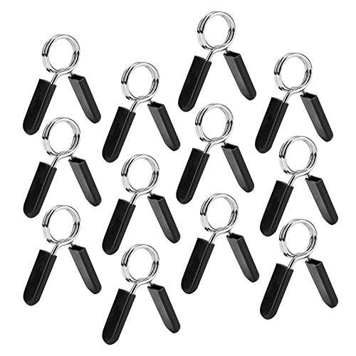 Gaetooely 12 Paquetes de Collares de Resorte con Mancuernas, Abrazaderas de Clip de Barra de Ejercicio para Pesas con Pesas Gimnasio Entrenamiento FíSico Fitness Levantamiento de Pesas