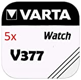Abb. Amazon:Varta Knopfzellen - V377 Lot de 5