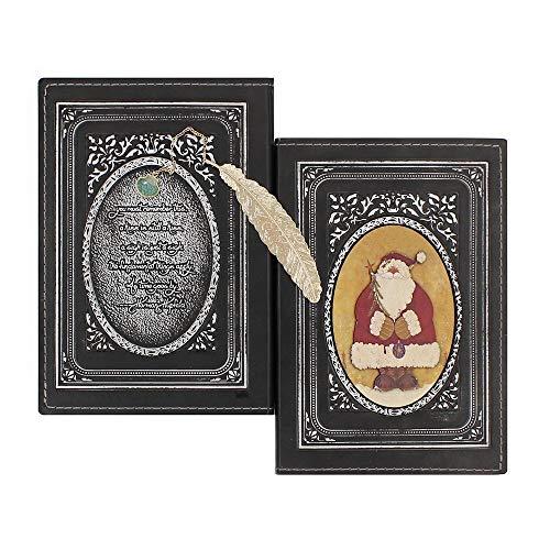 Wonderpool cuero realzado del cuaderno de la navidad con el cobre marca - antiguo a5 bound arte de papel de regalo de viajes sketchbook poesía álbum diario para escribir en