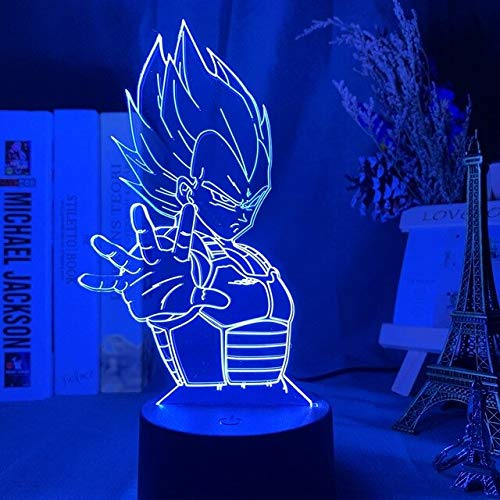 Anime Dragon Ball Super Beerus Abbildung Led Nachtlicht für Kinder Kind Schlafzimmer Decor Licht Dragon Ball Z Acryl Tisch lampe Geschenk,16 color with remote,LZ02