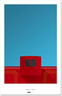 Williams-Brice Stadium - Minimalist Art Poster Print (11X17 Inches)