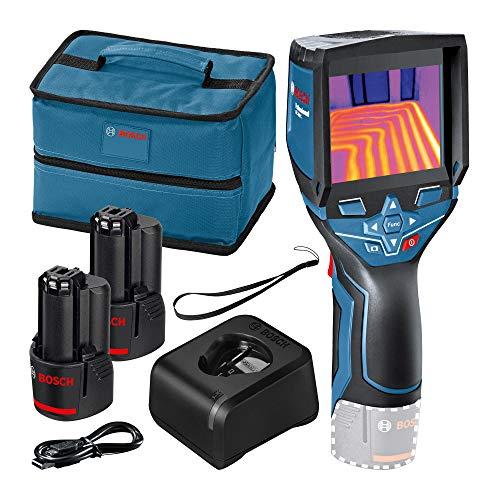 Bosch Professional 12V System Termocamera GTC 400 C (2 Batterie 12 V, Custodia, con Funzione App, Temperatura: Da -10 °C A +400 °C, Risoluzione: 160 X 120 Px) - Edizione Amazon