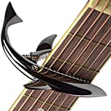 サメの形亜鉛合金ギターカポサメカーポ、アコースティック&エレキギター用