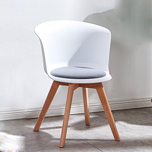 CKH stoel stoel Creative balkon vrije tijd huis eettafel kruk massief houten stoel poten geel zwart wit Wit