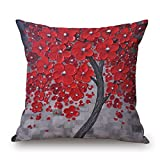 Bestseason 18 X 18 Inches / 45 by 45 Cm Plant Pillow Covers,Two Sides Ornament and Gift To Shop,Family,Monther,Deck Chair,Her,Teens Girls