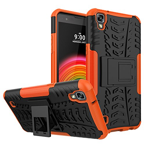 Hongjian Funda para LG X Power K220 Soft Shell Viewing Bracket Case Cover 8