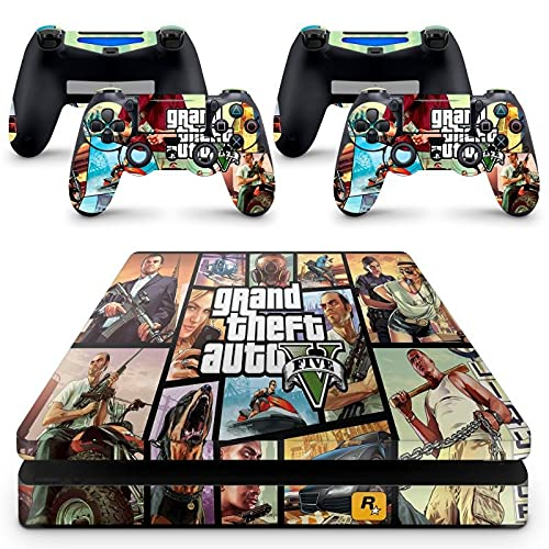 Skin Adesivo Protetor para PS4 Slim GTA V Grand Theft Auto 5 b3