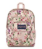 JanSport Big Student Backpack - 15-inch Laptop School Pack, Pink Bouquet