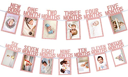 1st Birthday Baby Photo Banner - 4 Colors