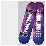 """QAZXS Skateboard 7 Plis 31""""x8 Pro Complet Skate Board Planches en érable avec poignée Peinte pour Adolescents Adultes Débutants Filles Garçons Enfants-ÉTOILE"""
