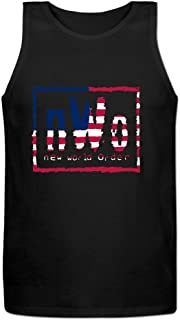 Men's NWO New World Order Flag Gym Muscle Tank Tops Crew Tees