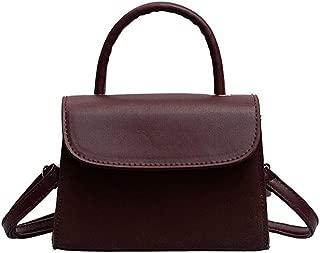Waymine Women's Wild Shoulder Bag Solid Retro Messenger Bag Small Coin Phone Cover Square Bag
