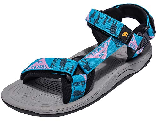 CAMEL CROWN Waterproof Hiking Sandals Women Arch Support Sport Sandals Comfortable Walking Water Sandals for Beach Travel Athletic Blue