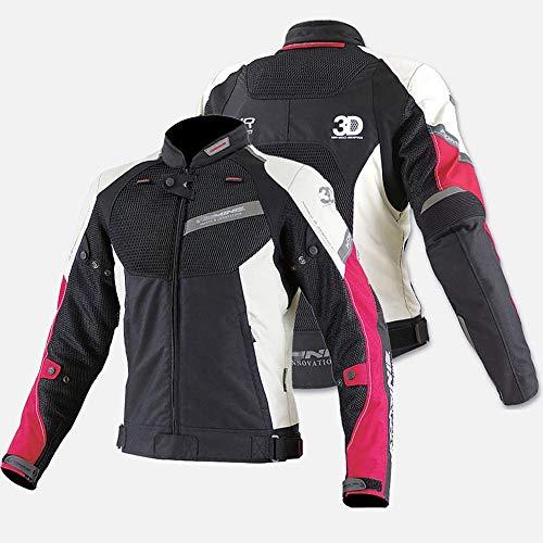 LALEO Unisex Chaqueta de Moto con 3D Malla Transpirable, Corte Ajustado Armours CE Anti-caída Transpirable Impermeable Resistente Chaqueta para Motocicleta Hombres Mujeres