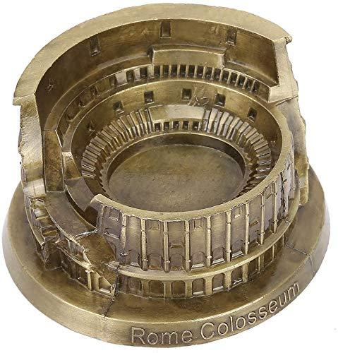 FTVOGUE Das antike Rom Kolosseum Modell Metallhandwerk Ornamente Touristische Souvenirs Wohnzimmer Büro Dekoration Kunsthandwerk (Bronze)