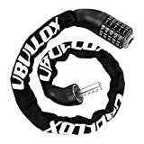 UBULLOX Bike Chain Lock 3FT Combination Bike Lock 5-Digit Resettable Combination Bicycle Lock Anti-Theft Combination Bicycle Chain Lock for Bicycle, Motorcycle and More