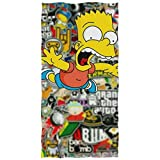 chillChur-DD Bath Towel Badetuch Die Simpsons Bade