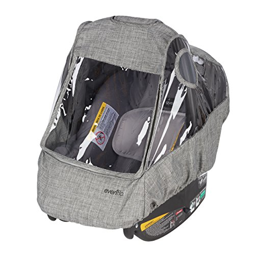 Evenflo Infant Car Seat Weather Shield and Rain Cover, Grey Melange