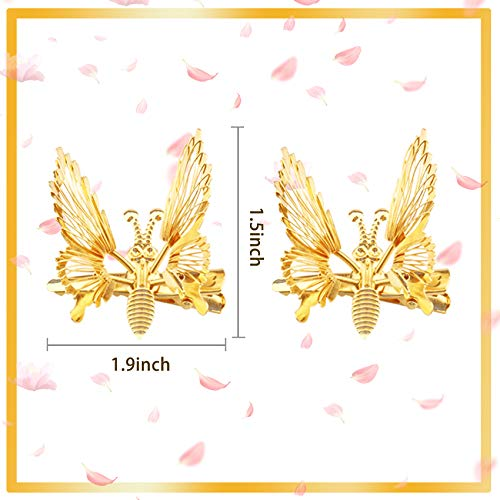 Butterfly hair clips with moving wings _image4