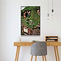キャンバスペインティング 庭のキャンバスの絵画花のプリントとリビングルームの壁のポスター家の装飾のためのフレームなしの家の装飾的な写真 50x75cm