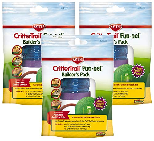 Kaytee 3 Pack of CritterTrail Fun-nel Builders Packs for Hamsters, Gerbils, or Mice