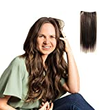 Madison Braids Women's Invisible Long Hair Extension - Natural Looking Handmade Synthetic Hair - Liz - Brunette