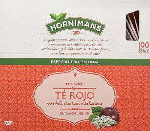 Hornimans - Té rojo - con anís y un toque de ciruela - 100 bolsitas -...