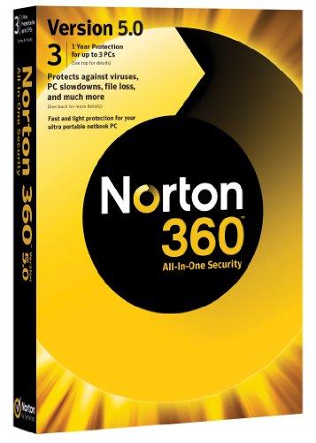 Norton 360 v5.0, 1 User, 3 PCs 1 Year Subscription [import anglais]