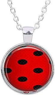 Miraculous Ladybug & Cat Noir Pattern Necklace