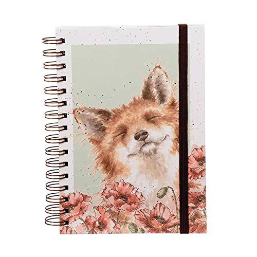 """Wrendale Designs - Notizbuch mit Spiralbindung \""""Poppy Fields\"""""""