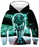 TUONROAD Sudadera con Capucha Niño Novedad 3D Hoodie Niña Ligero Sport Sweatshirt Manga Larga Pullover Sweater Hoody 8-12 Años