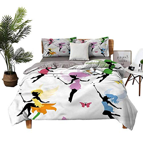 DRAGON VINES duvet cover Cute Pixie Elf Fairy Silk Sheets Wedding bed W68 xL90