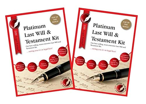 2 X 2019-20 Edition, PLATINUM LAST WILL AND TESTAMENT KITS. 'Top of the...