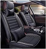 Coprisedili per auto Custom compatibili per Classe C W204 W205 Universale in finta pelle Anteriore posteriore Auto Set completo di 5 posti Cuscino protettore Cuscino per seggiolino auto Airbag compati