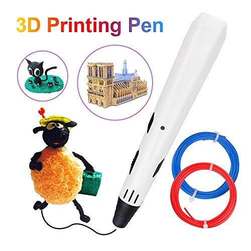 3D printstift met LED Graffiti intelligent compatibel handwerk kinderen volwassenen PLA/ABS wit