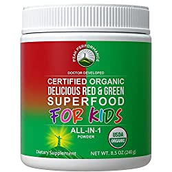 small Kinder Green and Reds Superfood Powder.  Over 25 Natural Best Tasting Vegan Organic Superfood Juices …