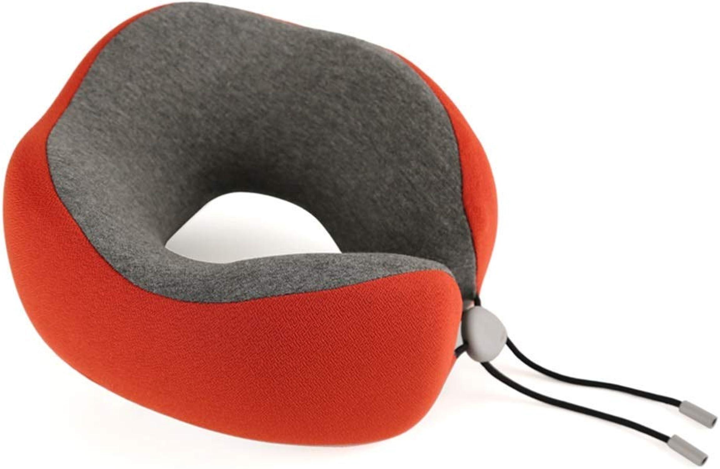 Huayer Oreiller de Voyage pour Voiture - Oreiller de Voyage portable - Sac de RangeHommest - Coton à mémoire de Forme - Oreiller Confortable pour Le Cou