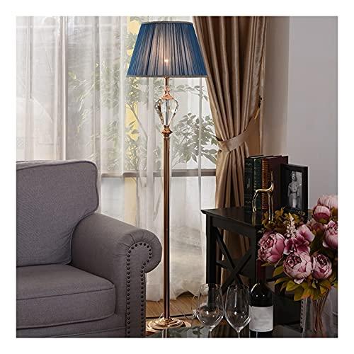 Indoor Crystal Metal Floor Lamp LED Moderne eenvoud voor slaapkamers, woonkamer, kantoor, leeslichtHome