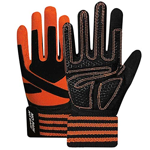 Full Finger Weight Lifting Gloves Men Women with Wrist Wrap