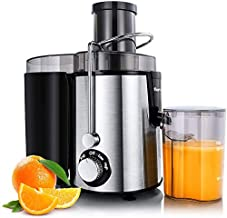 HOMETRONICS Juicer Machines Centrifugal Juice Extractor for Whole Fruit and Vegetables, BPA-Free, Dual Speed and Overheat ...